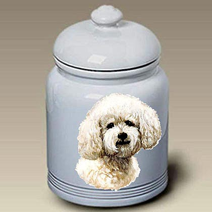 Bichon Frise Treat Jar