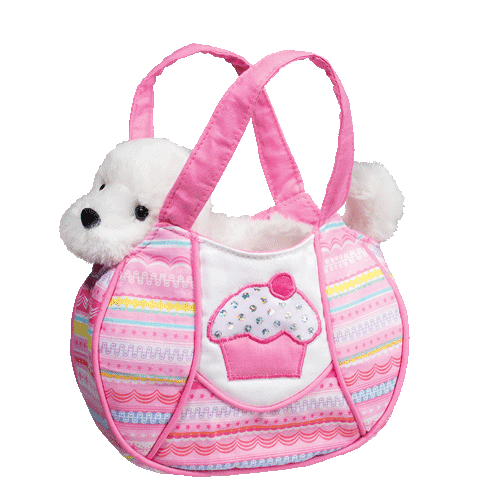 "Bichon Frise Tutti Frutti 7"" Purse Stuffed Plush Animal"