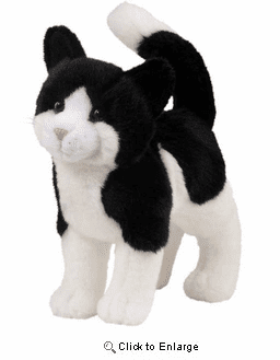 """""""Scooter"""" Black & White Cat 12 Inch plush by Douglas Toy"""