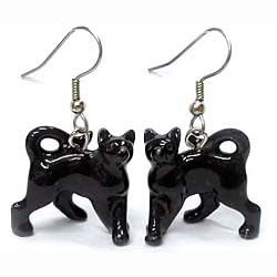 Black Cat Earrings True to Life