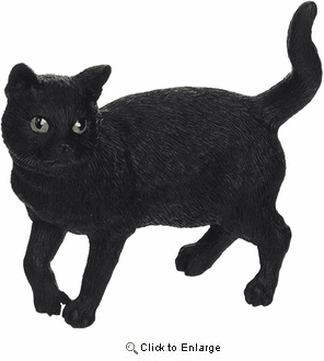 Black Cat Figurine Standing