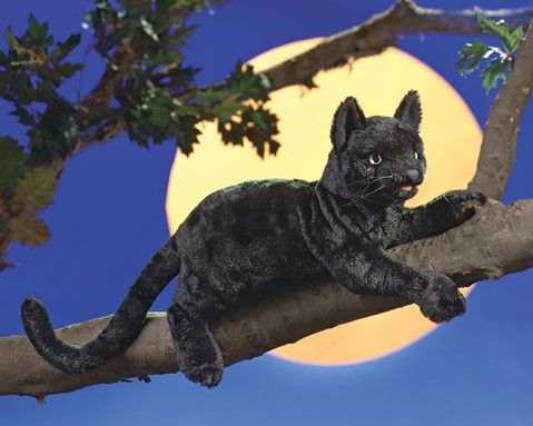 Black Cat Hand Puppet 20