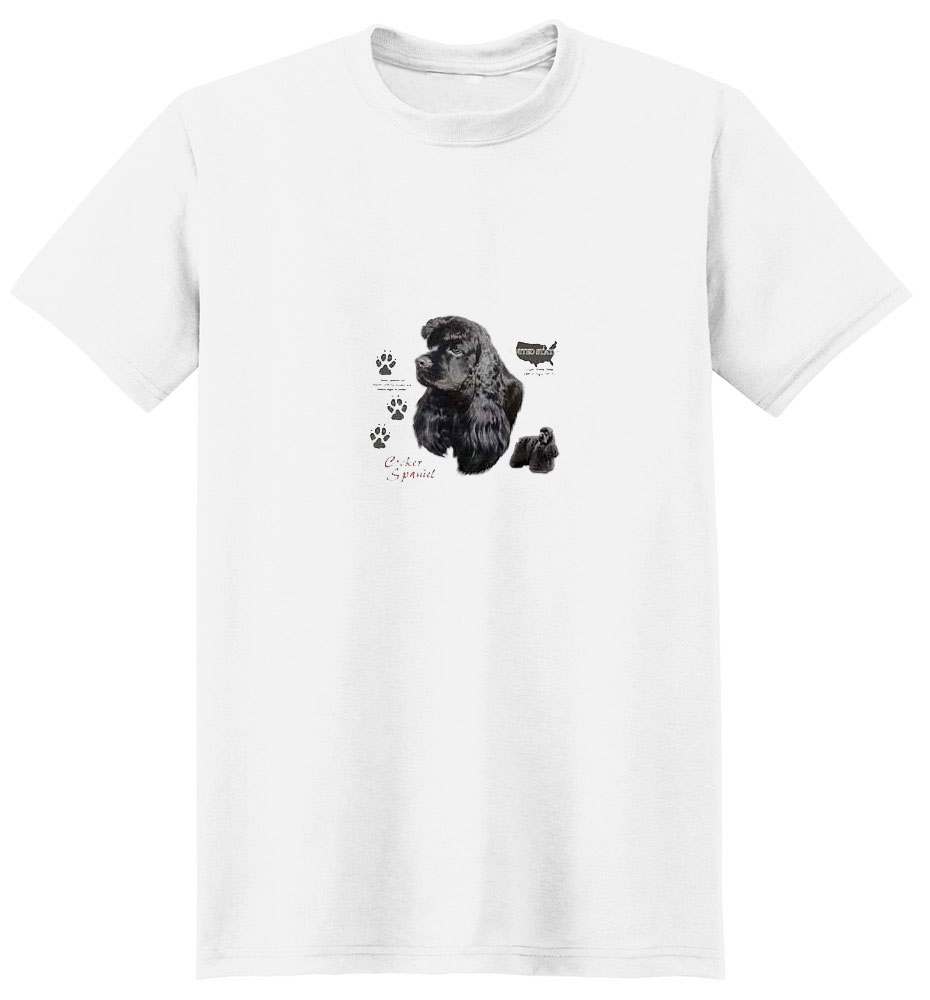 Black Cocker Spaniel T-Shirt - History Collection