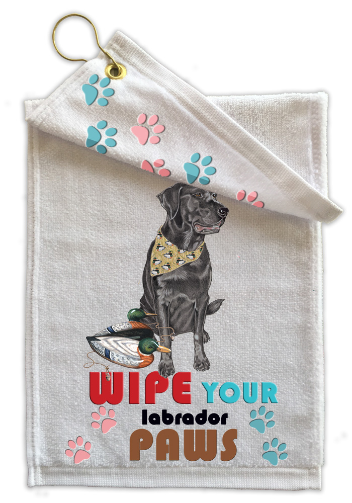 Black Lab Paw Wipe Towel