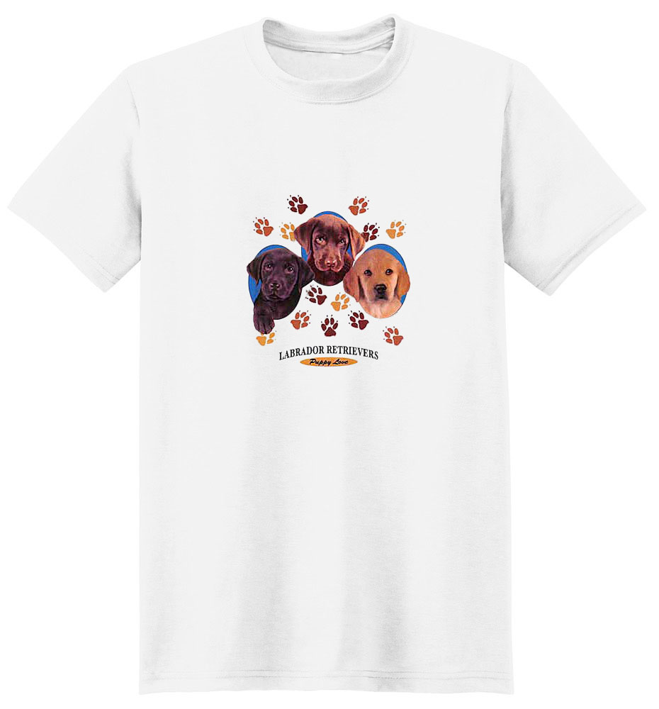 Black Lab T-Shirt - Puppies and Paws