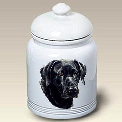 Black Lab Treat Jar