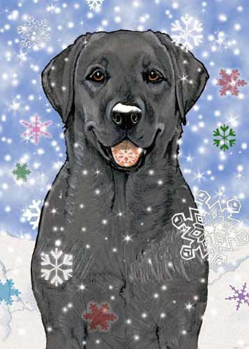 Black Labrador Christmas Cards