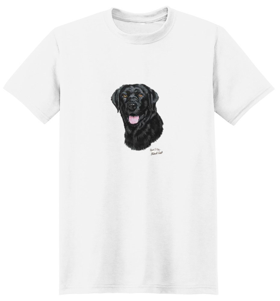Black Labrador T Shirt Robert May Collection