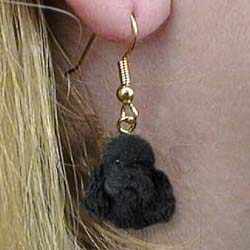 Black Poodle Authentic Earrings