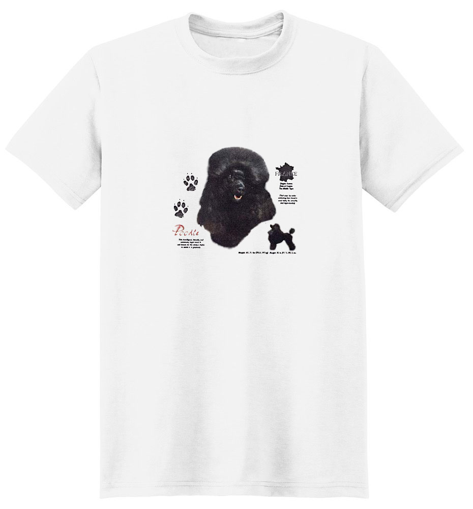Black Poodle T-Shirt - History Collection