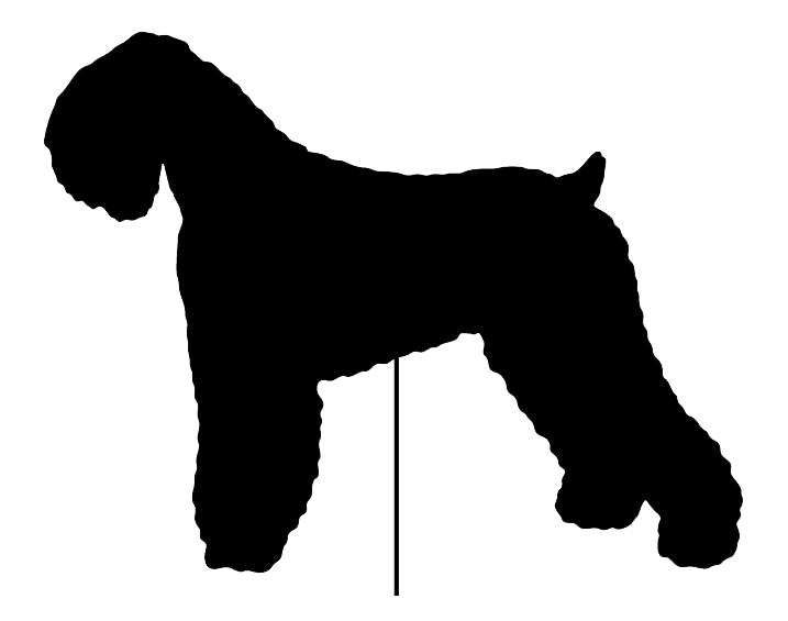Black Russian Terrier Garden Stake