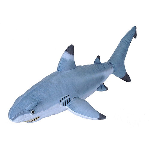 Wild Republic Black Tipped Shark Plush,  Plush Toy, Living Ocean 31 Inches