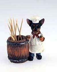 Black & White Chihuahua Toothpick Holder