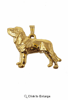 Bloodhound 24K Gold Plated Pendant