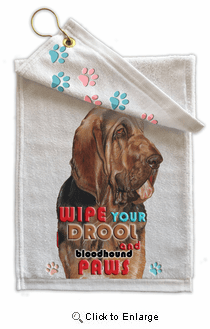Bloodhound Paw Wipe Towel
