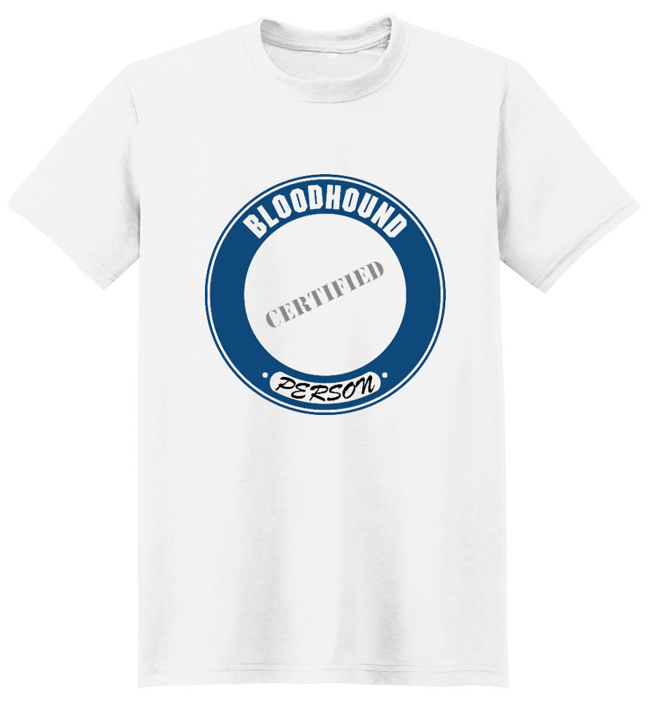 Bloodhound T-Shirt - Certified Person