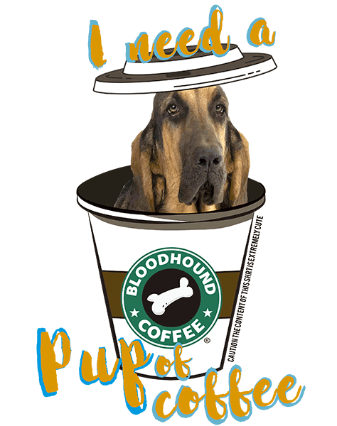 Bloodhound T Shirt - Coffee Mug