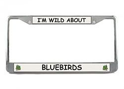 Bluebird License Plate Frame