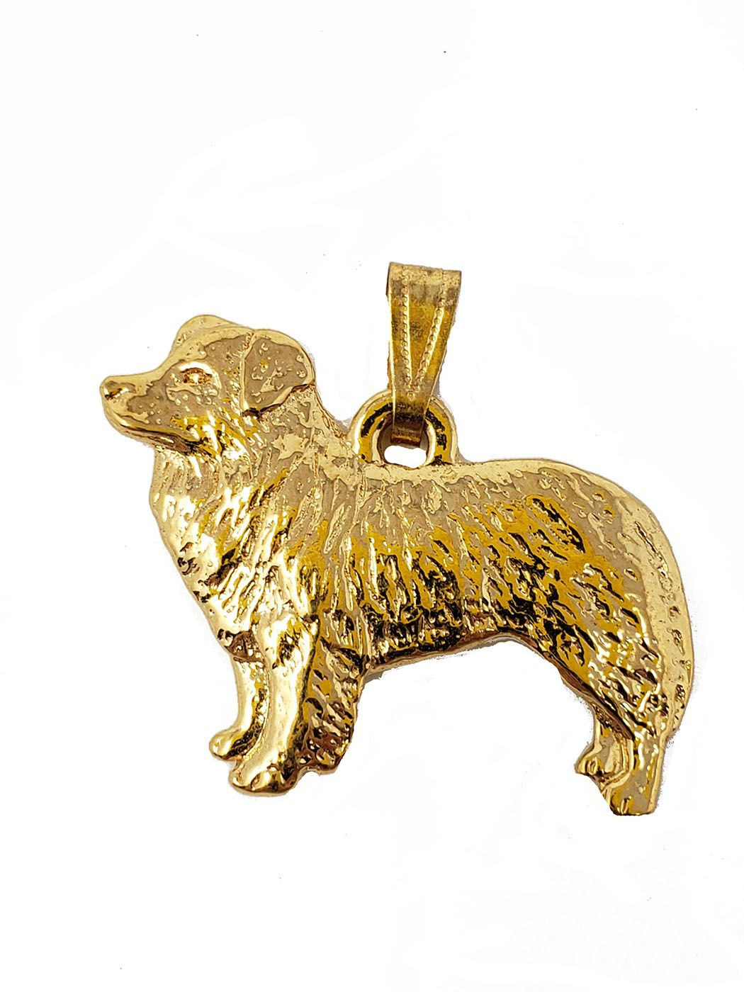 Border Collie 24K Gold Plated Pendant