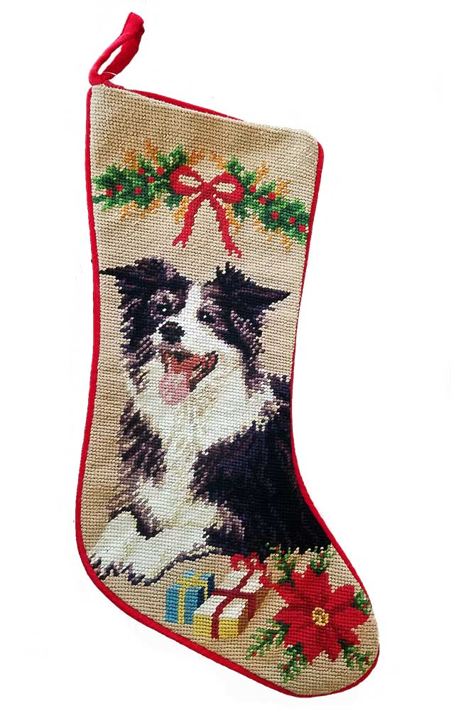 Border Collie Christmas Stocking