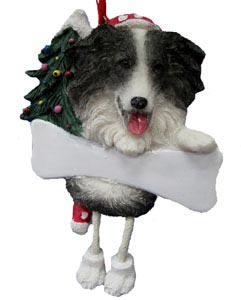 Border Collie Christmas Tree Ornament - Personalize