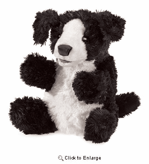 Border Collie Puppet 8""