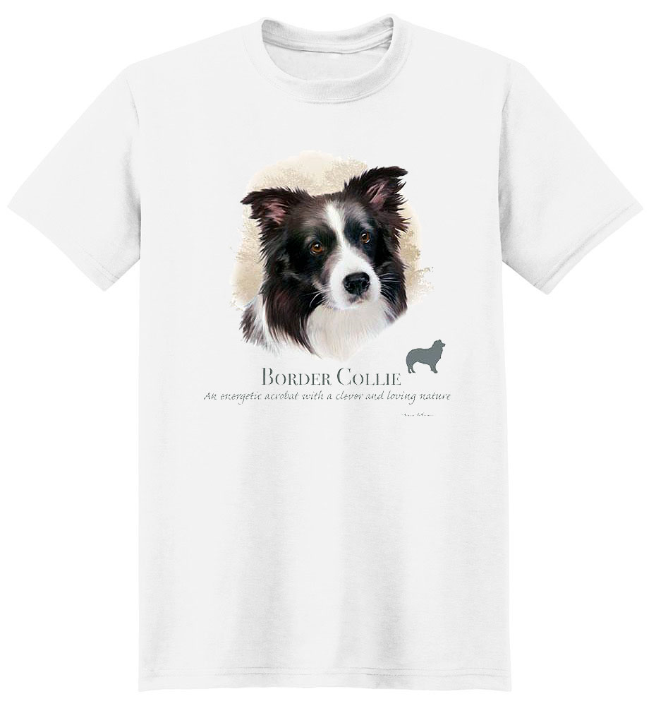 Border Collie T Shirt by Howard Robinson
