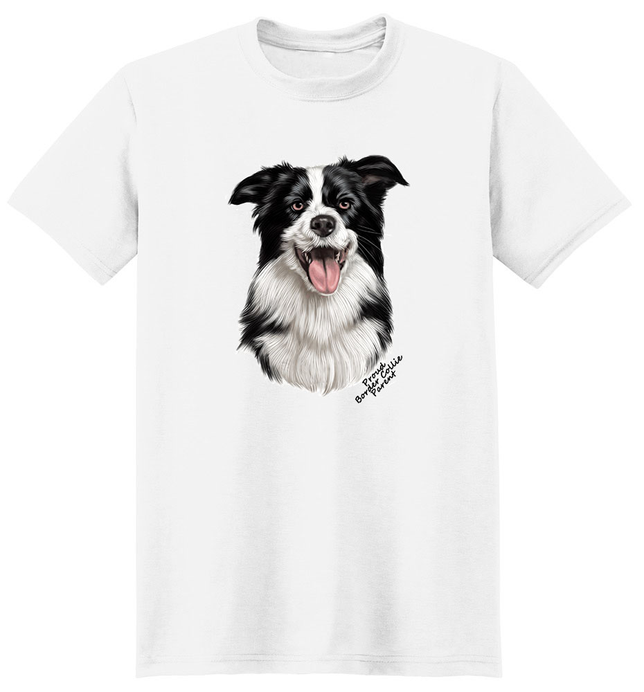 Border Collie T Shirt - Proud Parent