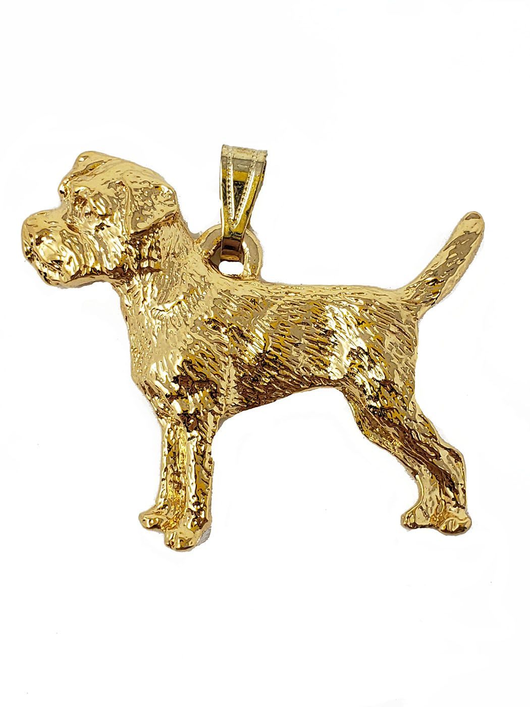Border Terrier 24K Gold Plated Pendant
