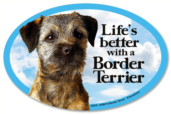 Border Terrier Car Magnet - Life's Better