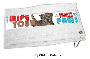 Border Terrier Paw Wipe Towel