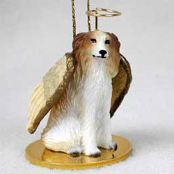 Borzoi Christmas Ornament Angel
