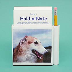 Borzoi Hold-a-Note