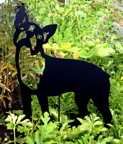 Boston Terrier Garden Stake