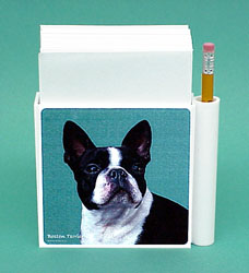 Boston Terrier Hold-a-Note