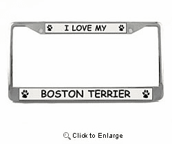 Boston Terrier License Plate Frame
