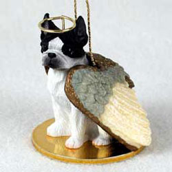 Boston Terrier Christmas Ornament Angel