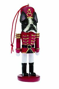 Boston Terrier Ornament Nutcracker