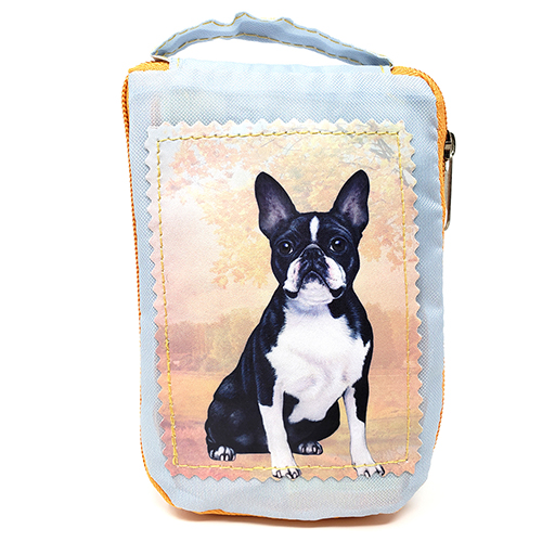 Boston Terrier Tote Bag - Foldable to Pouch