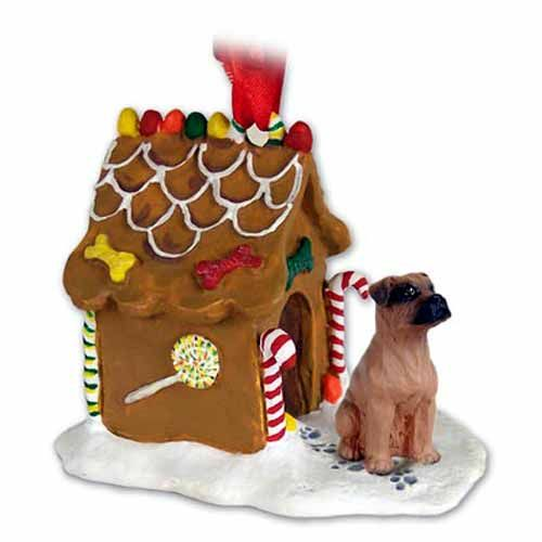 Boxer Gingerbread House Christmas Ornament Tawny Uncropped