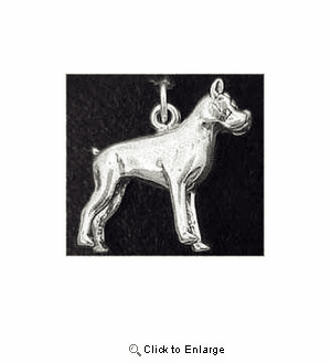 Boxer Sterling Silver Charm