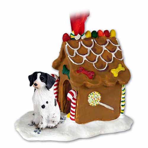Brittany Gingerbread House Christmas Ornament Liver-White