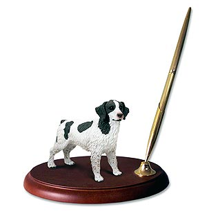 Brittany Pen Holder (Liver & White)