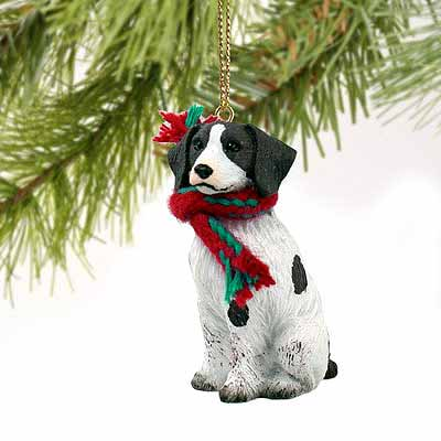 Brittany Tiny One Christmas Ornament Liver-White