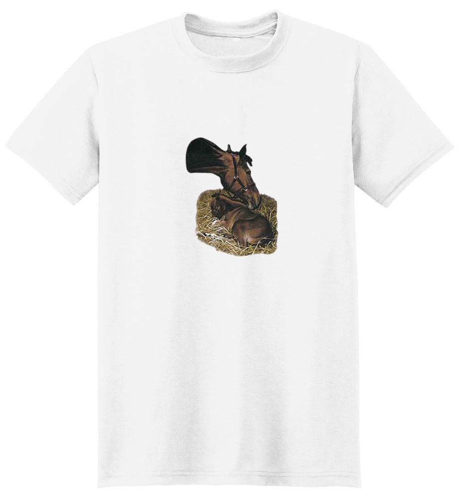 Brown Horse T-Shirt - Mare and Colt