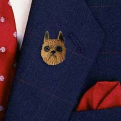 Brussels Griffon Pin Hand Painted Resin