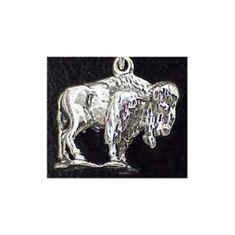 Buffalo Sterling Silver Charm