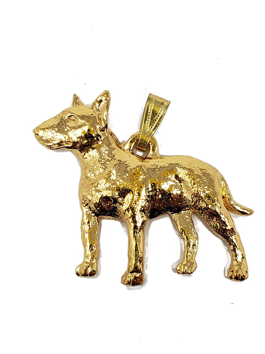 Bull Terrier 24K Gold Plated Pendant