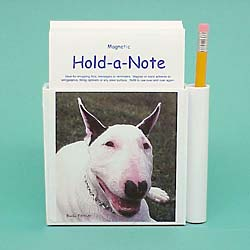 Bull Terrier Hold-a-Note