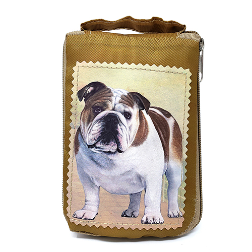 Bulldog Tote Bag - Foldable to Pouch